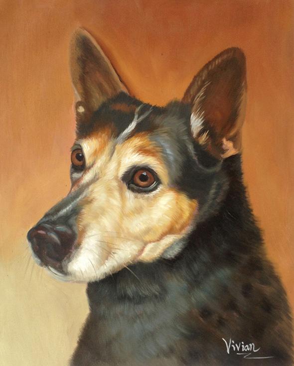 dear friend painting dog