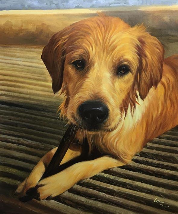 interested dog portrait