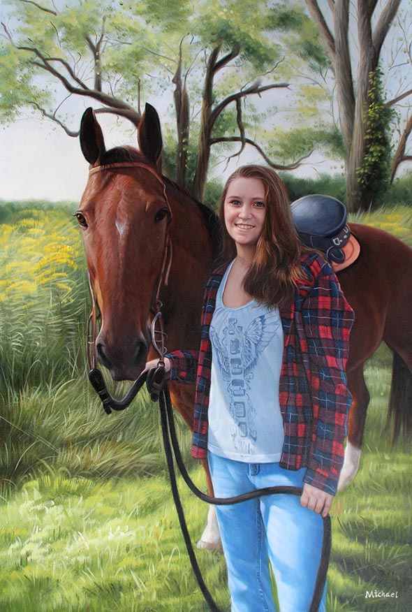Horse portrait from a photo