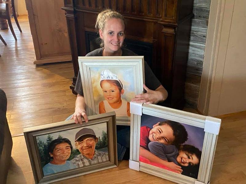 Handmade oil portraits of people