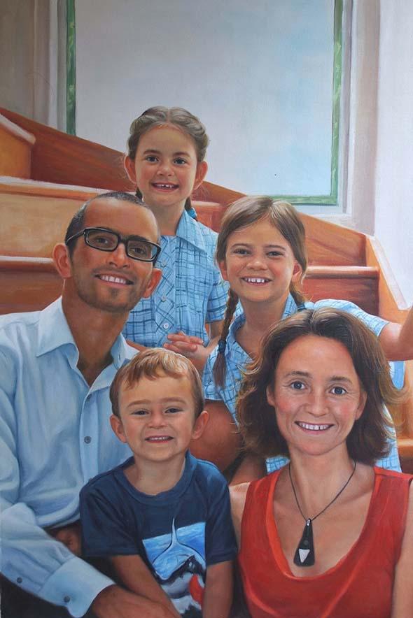 portrait peinture famille