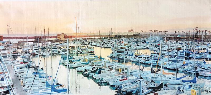 Peinture de port