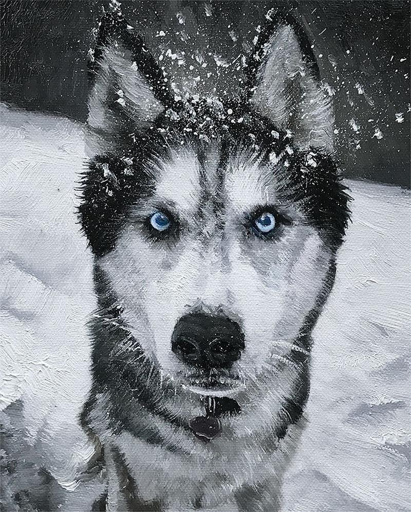 le chien dans la peinture