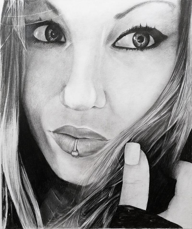 peinture portrait femme moderne