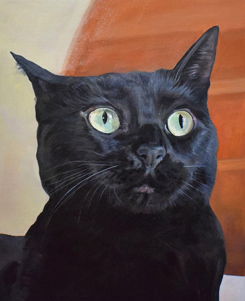 Custom oil artwork of a cat