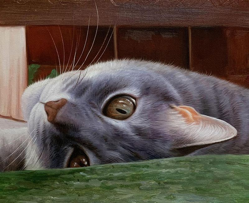 Custom cat painting in oil
