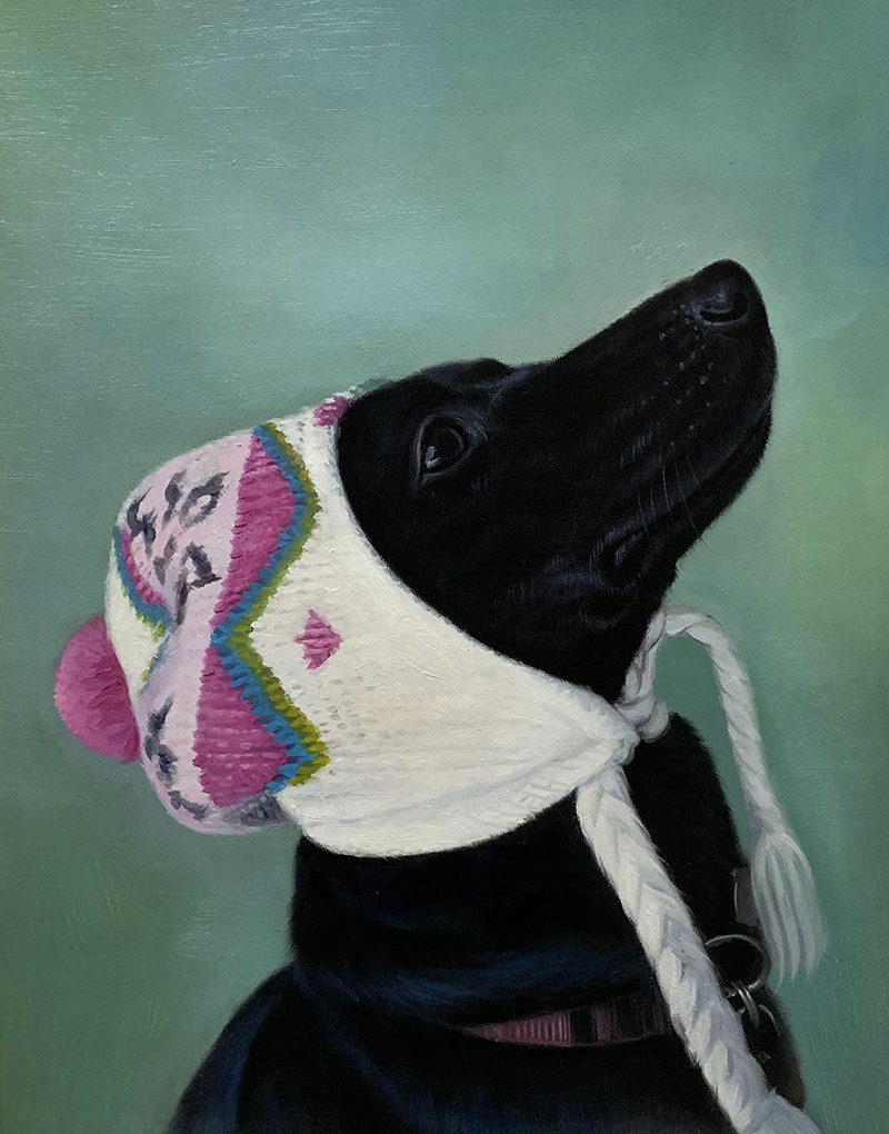 Custom dog painting in acrylic
