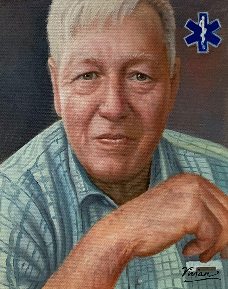 Personalized oil painting of a gentleman