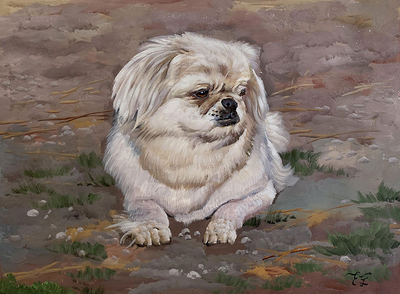 Custom pastel painting of a dog