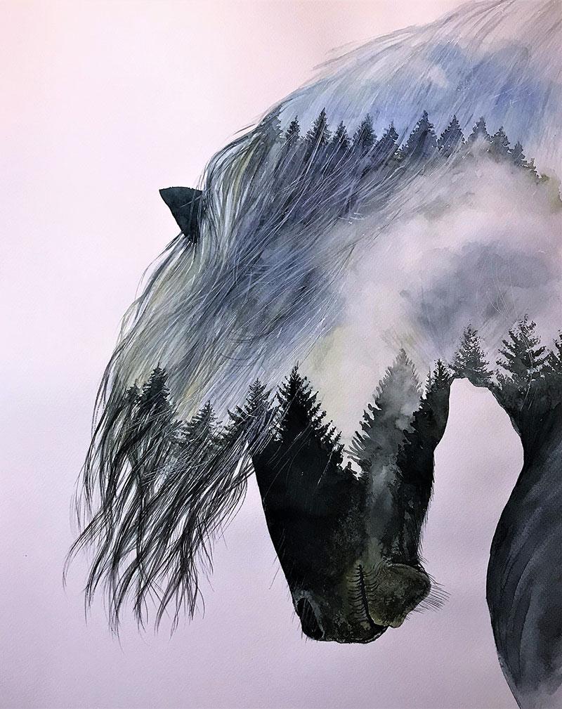 Stunning handmade watercolor painting
