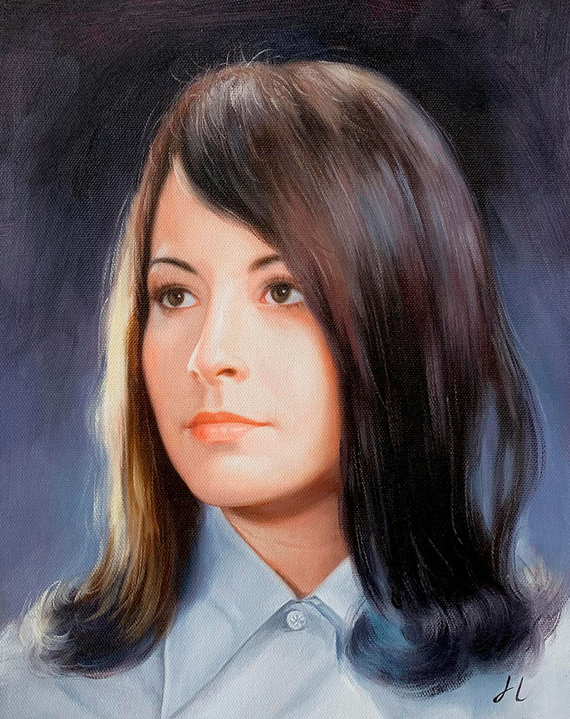 Personalized  handmade oil painting of a woman
