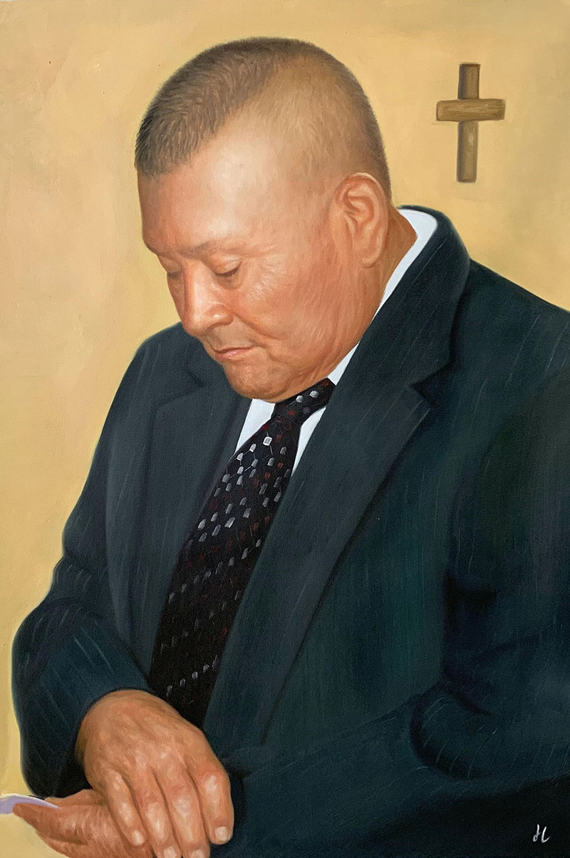 Personalized oil portrait of a man