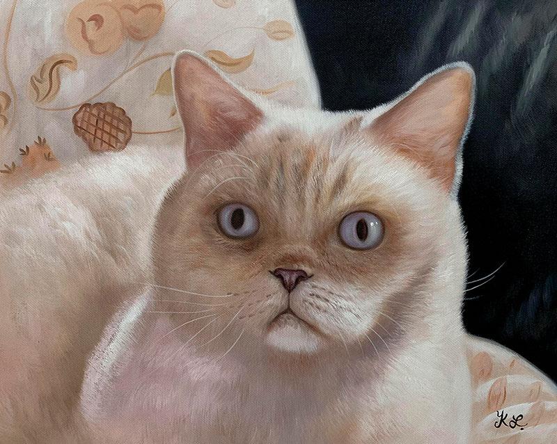 Beautiful acrylic artwork of cat