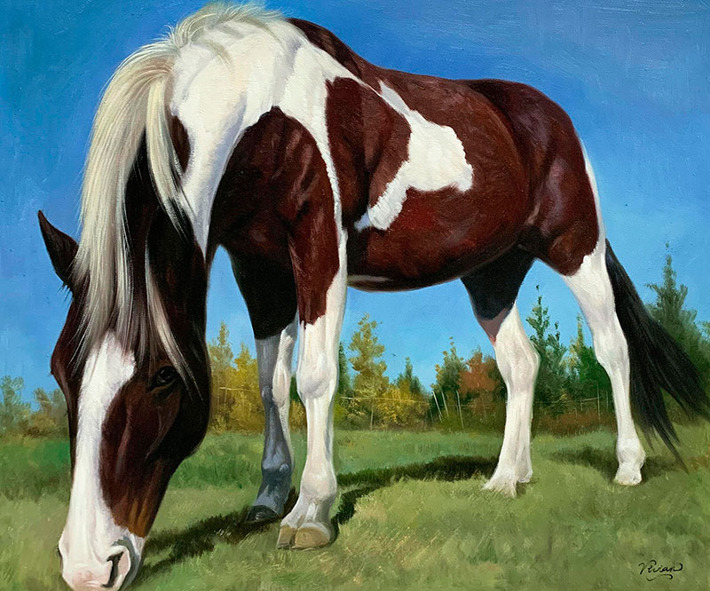 Gorgeous oil artwork of a horse