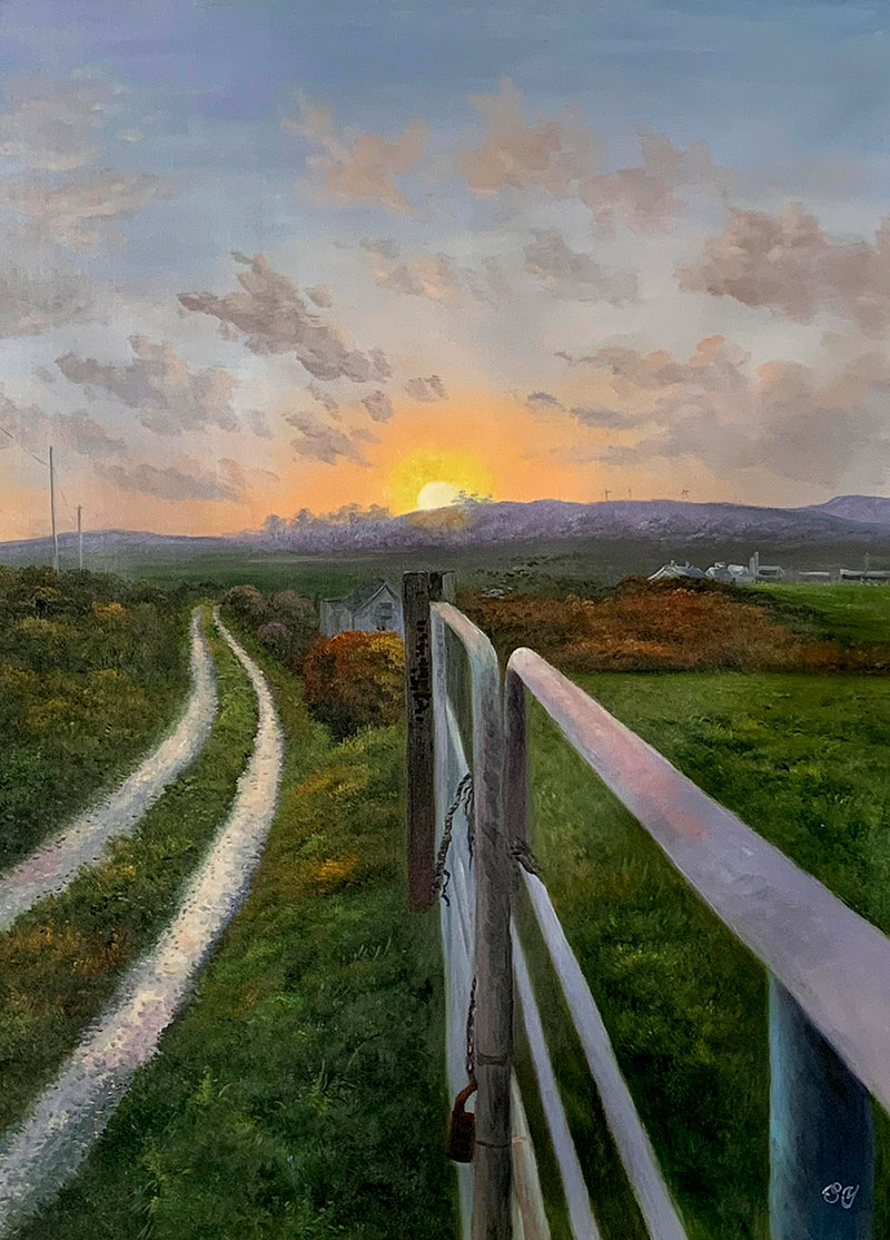 Gorgeous acrylic painting of a landscape