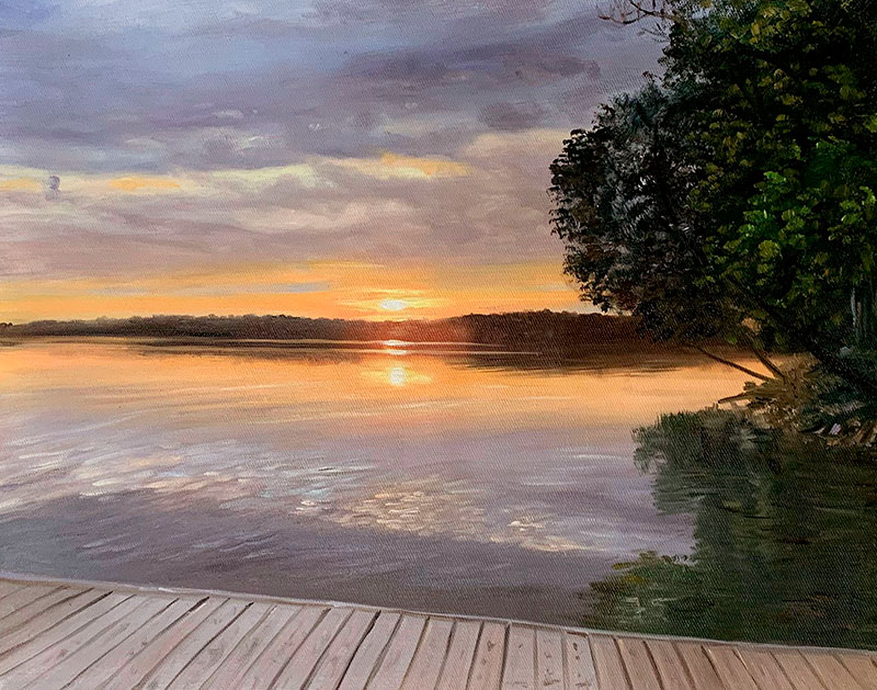 Stunning handmade oil painting of a landscape