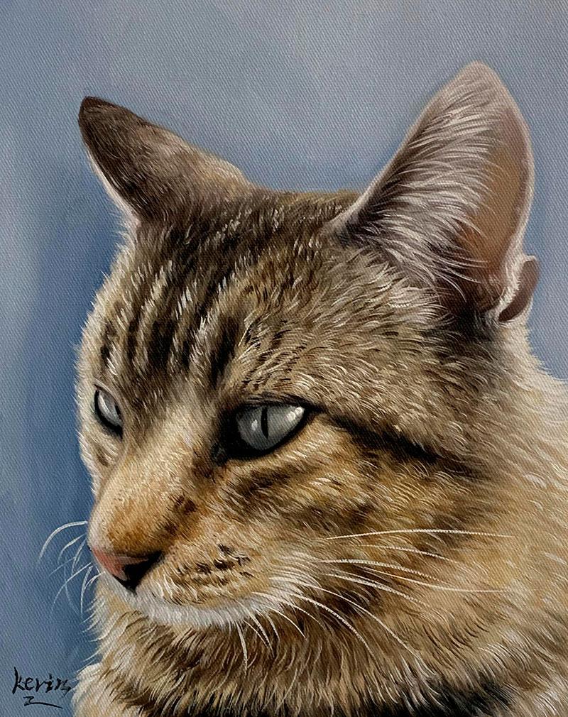 Custom acrylic painting of a cat