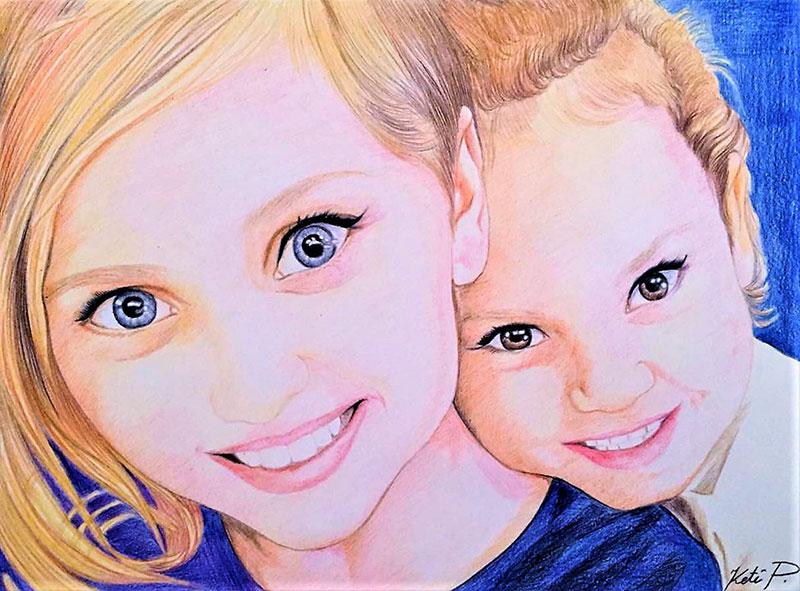Peinture maman et bébé