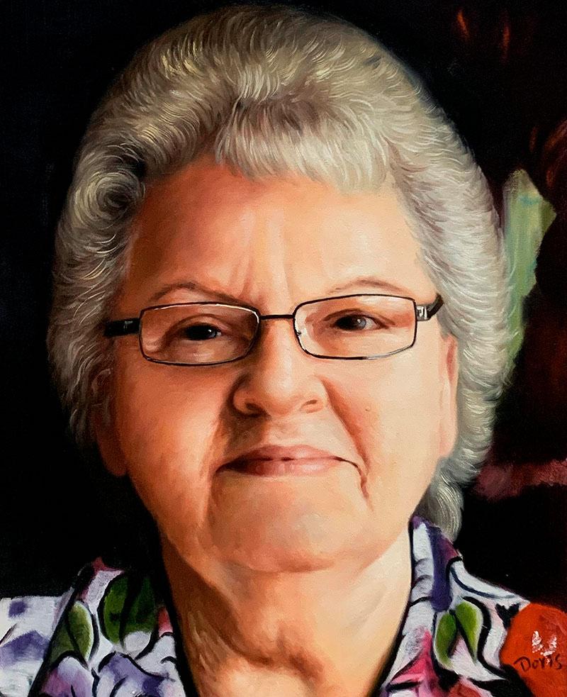 olio da fotografia nonna ritratto