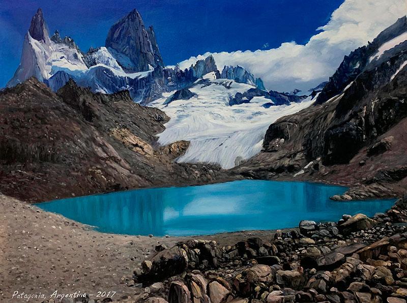 Stunning oil artwork of a landscape