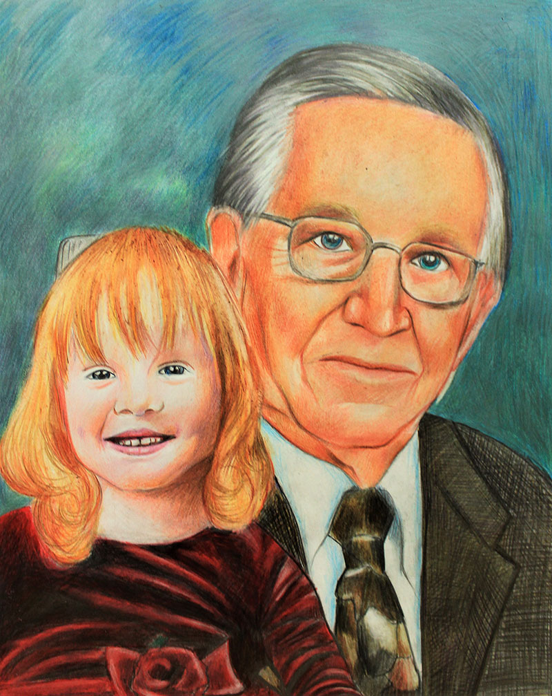 Vibrant color pencil painting