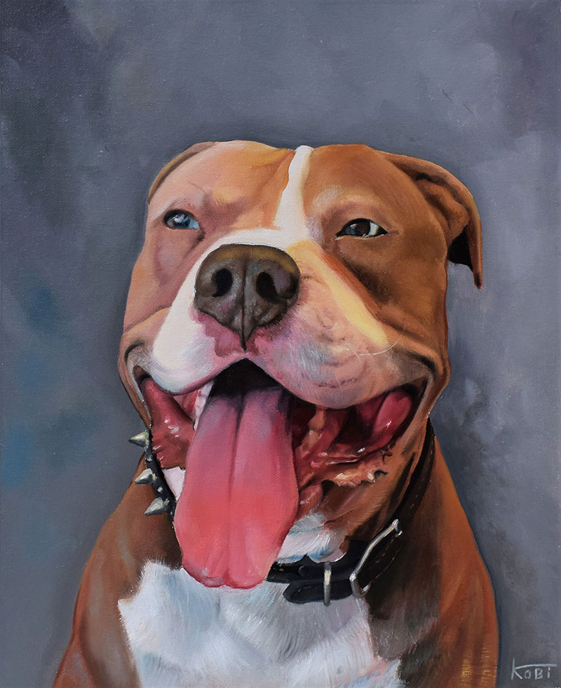 Hundefoto Ölportrait handgemalt