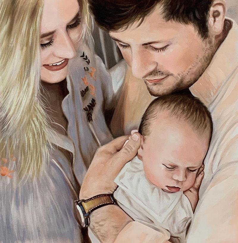 Gorgeous oil family portrait