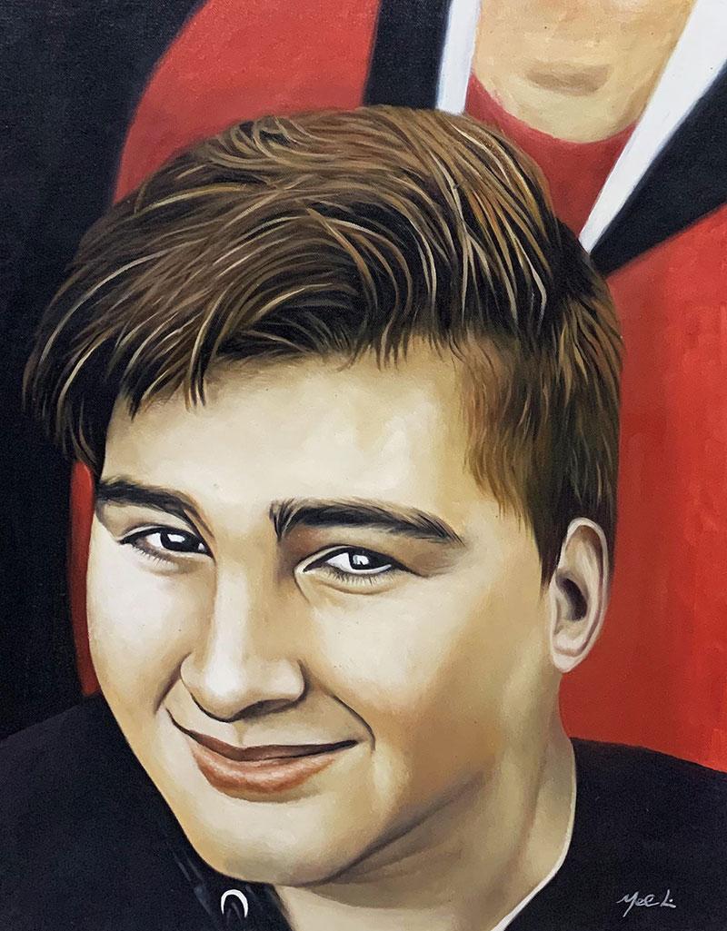 Custom oil portrait of a boy