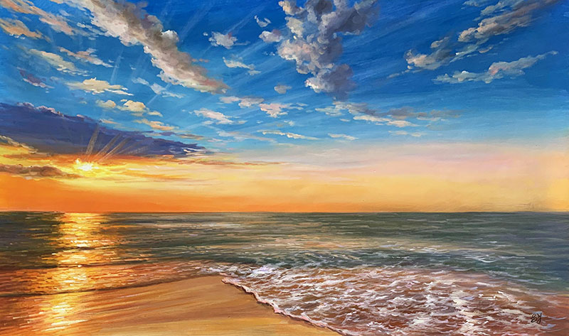 Stunning oil painting of a landscape