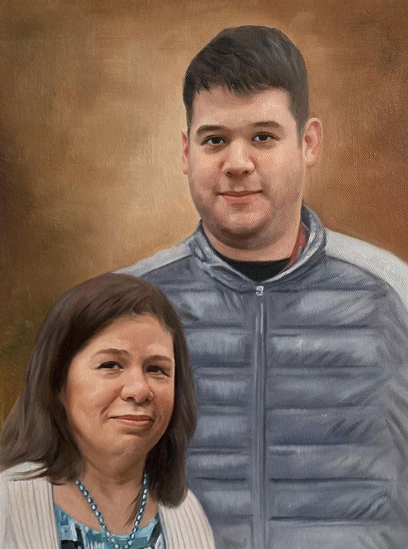 Beautiful handmade acrylic painting of two adults