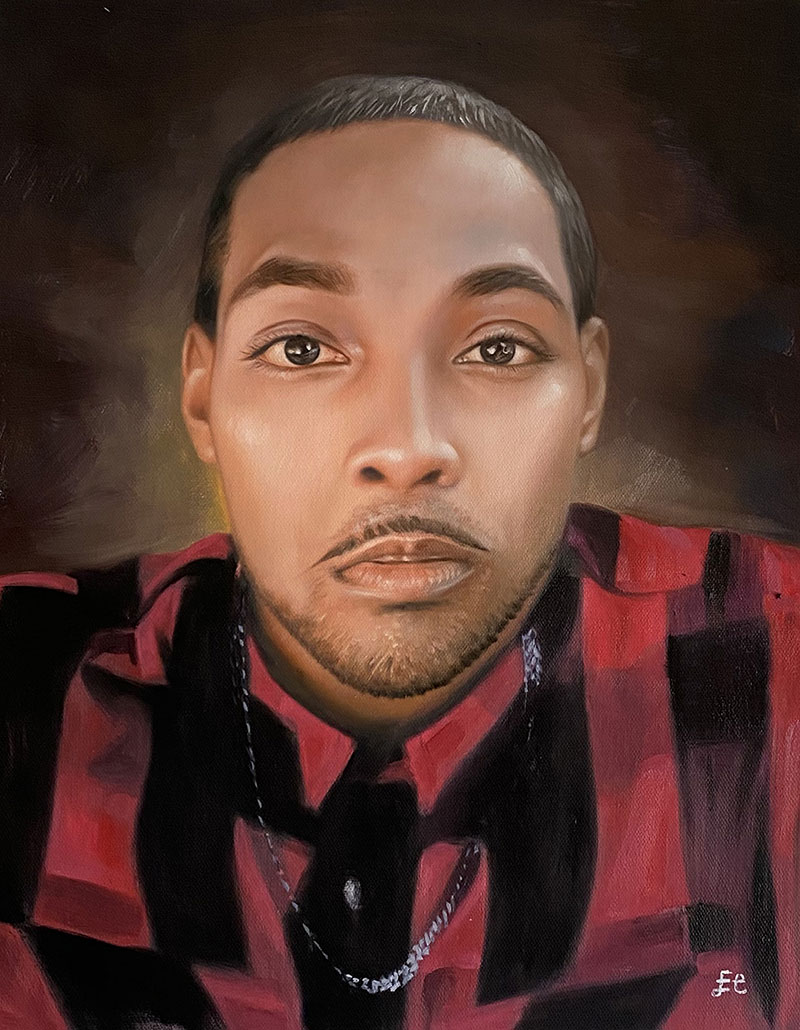 Custom handmade oil portrait of an adult