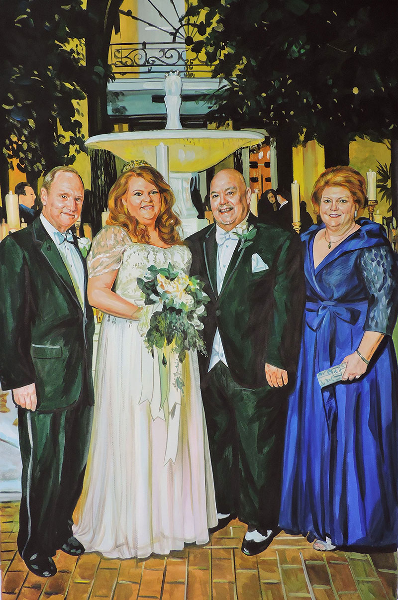 wedding portrait in pastel