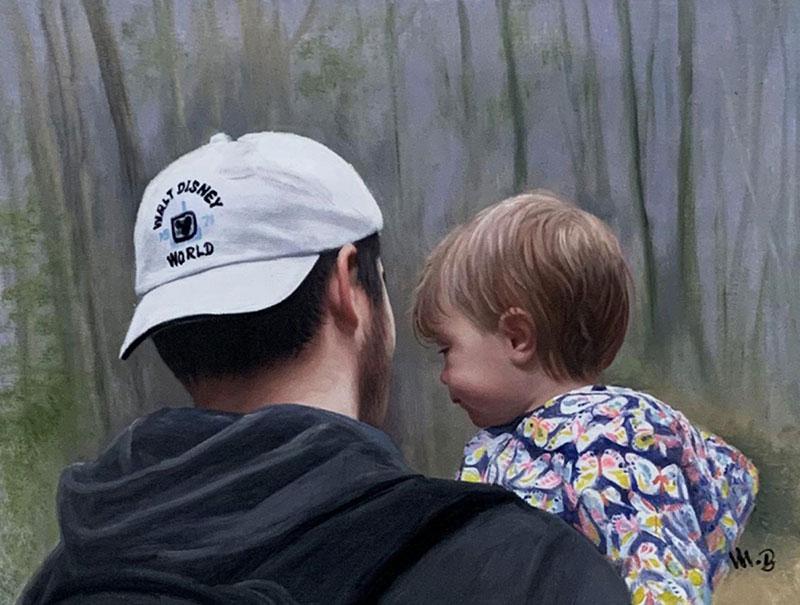 Hyper realistic handmade acrylic painting