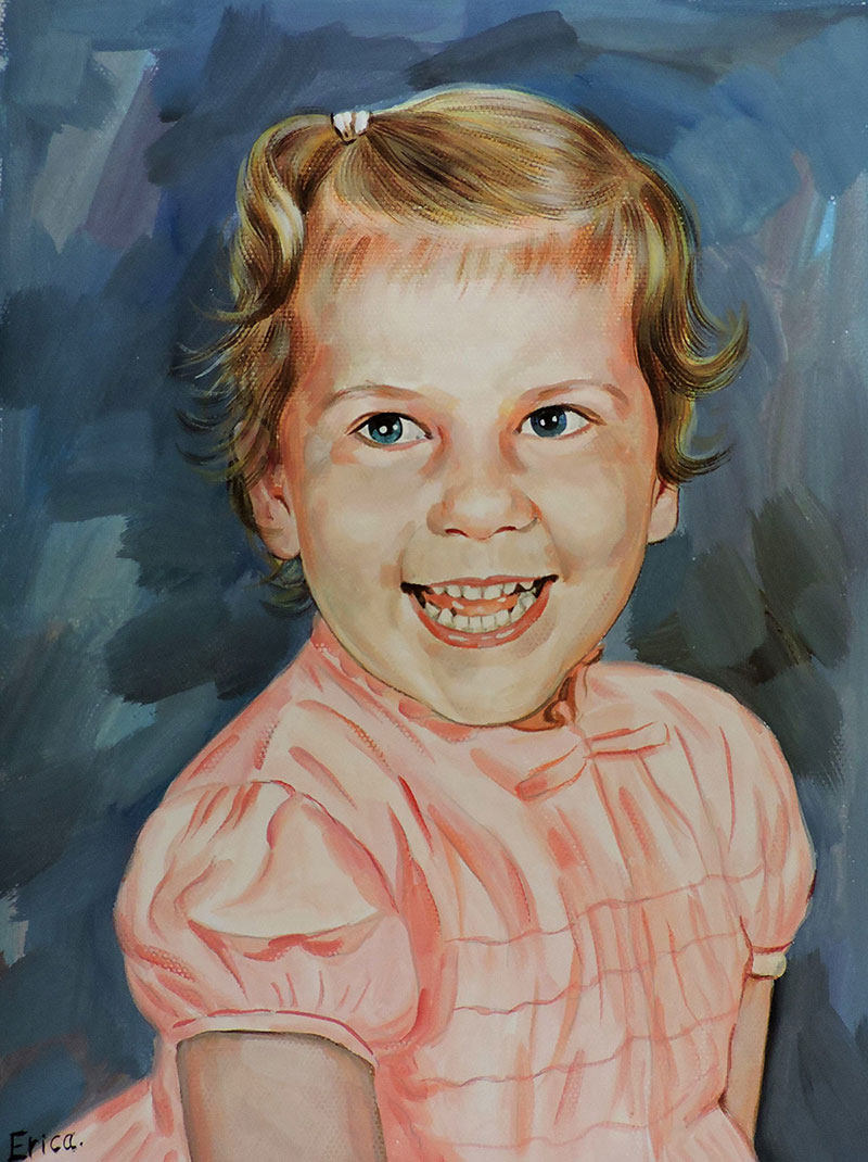 child portrait pastel