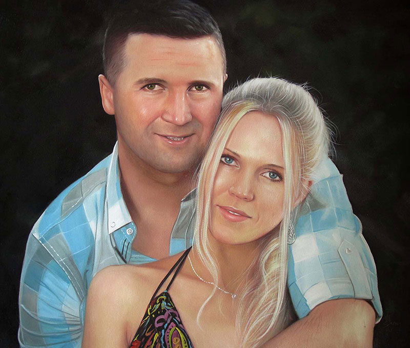 picture to painting converter white couple blonde woman