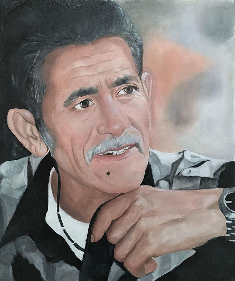 Custom close up oil portrait of a gentleman