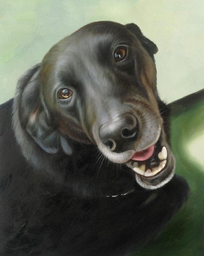 excited dog custom art
