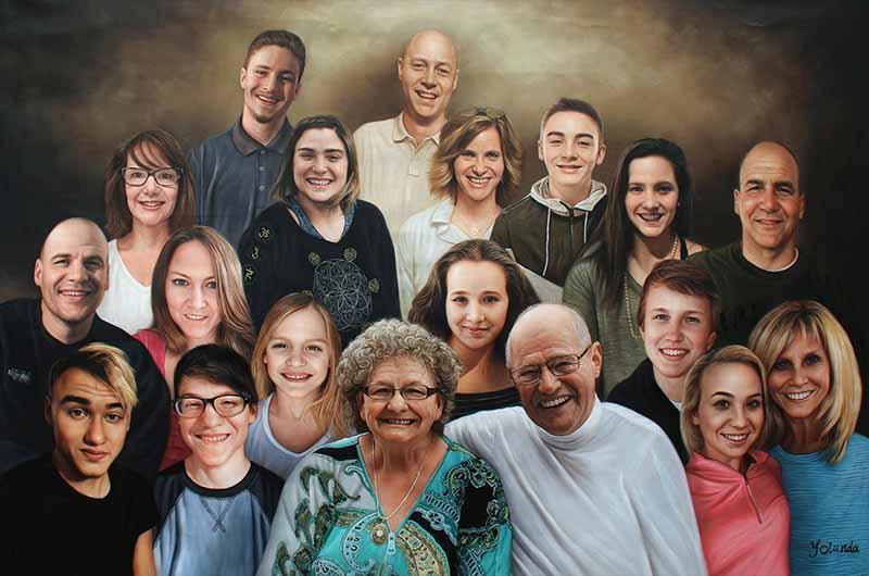 high quality detailed family portrait big