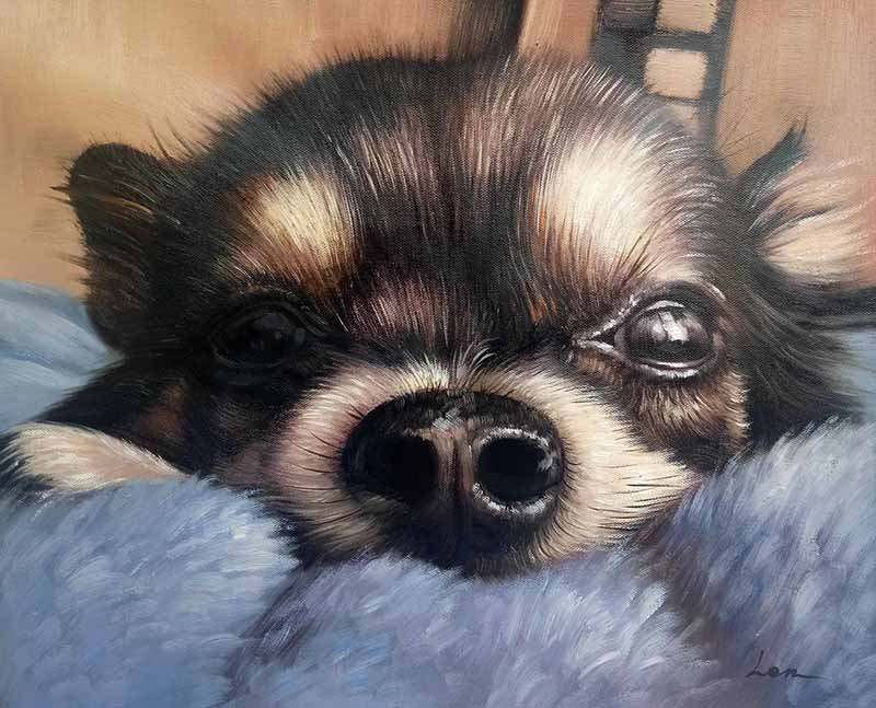 cute dog close-up art