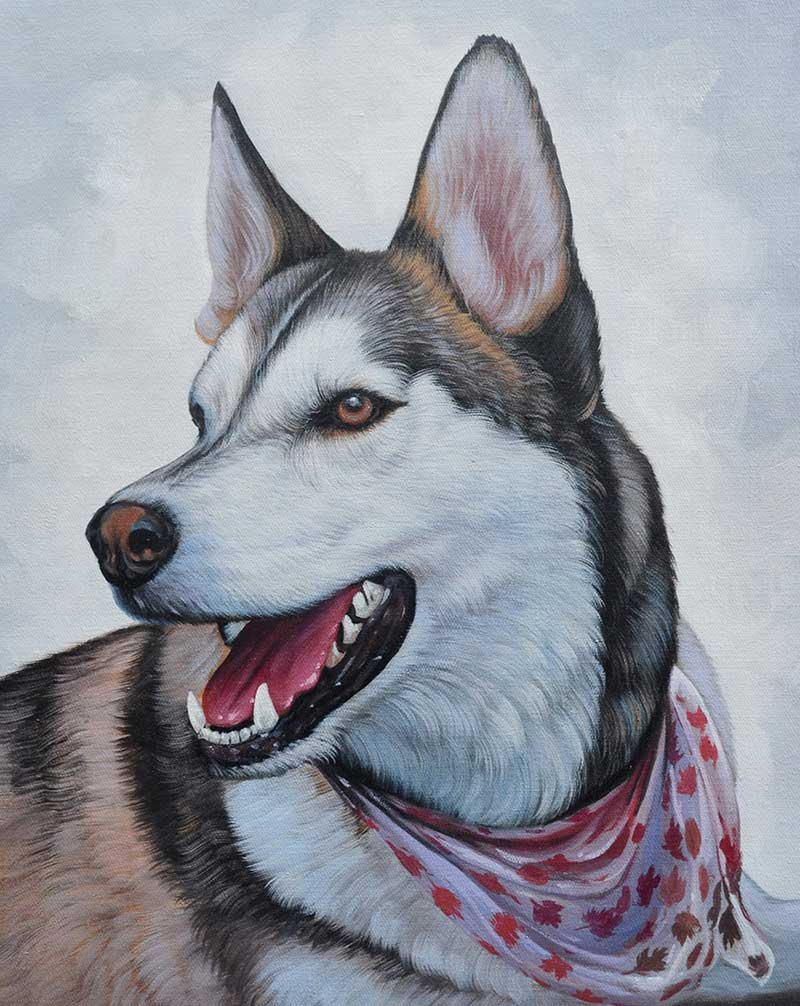 custom art dog painting