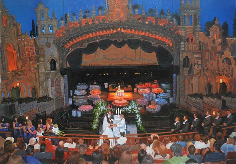 wedding painters custom oil painting of special day
