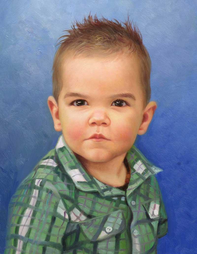 artiste peintre portrait enfant
