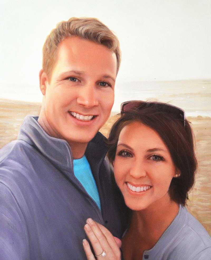 custom acrylic portrait of couple