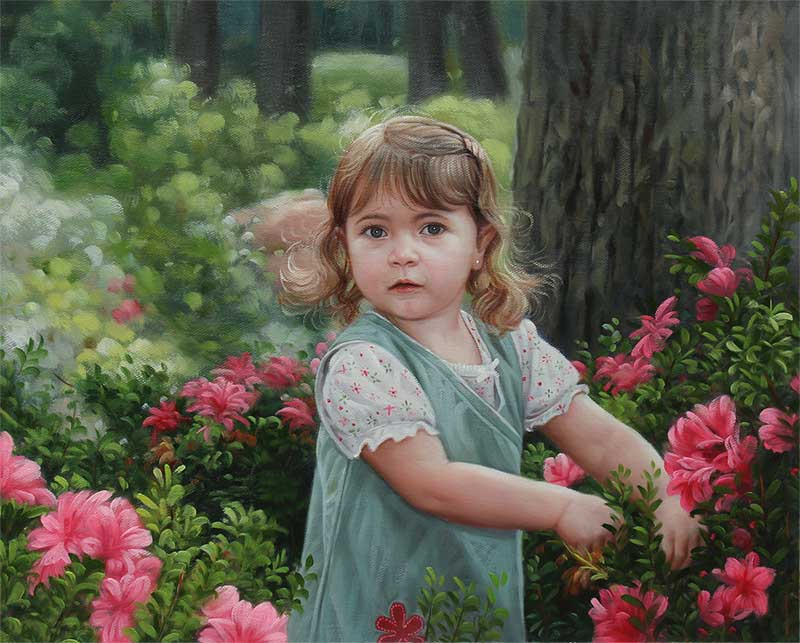 amazing online portrait of a child