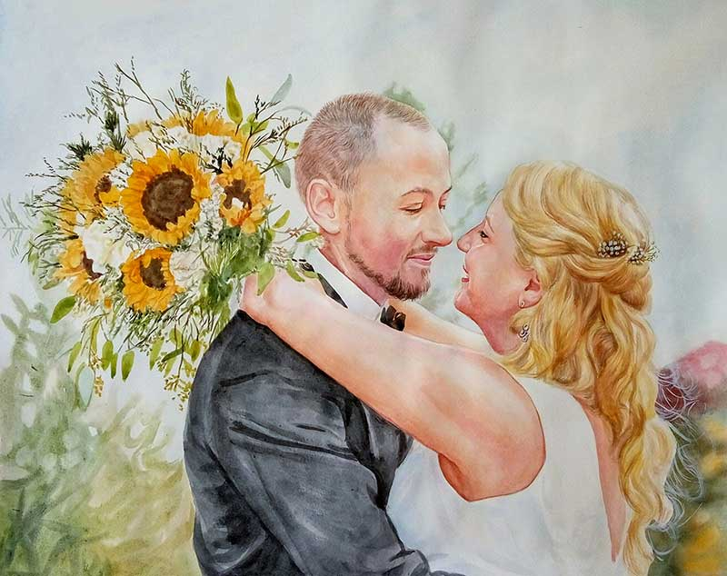 photo to watercolor painting