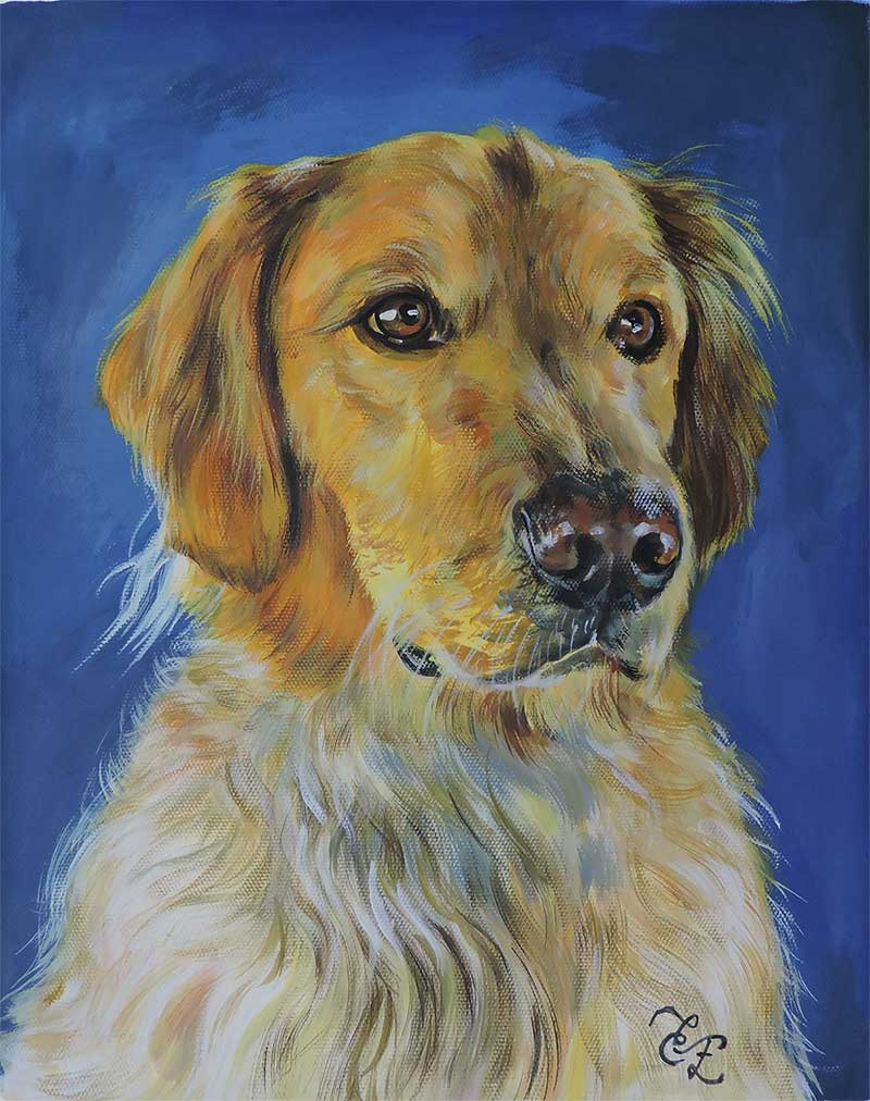 dog portraits on canvas