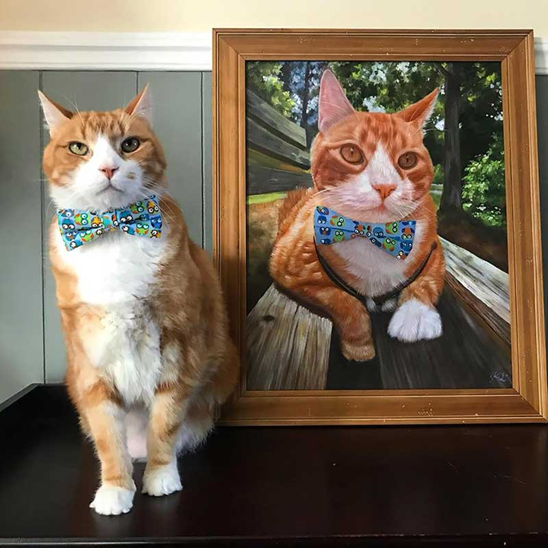 olive taco painting gift artwork cat