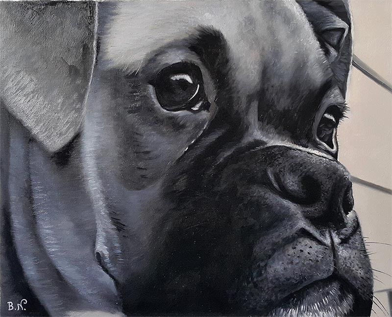 dog canvas painting