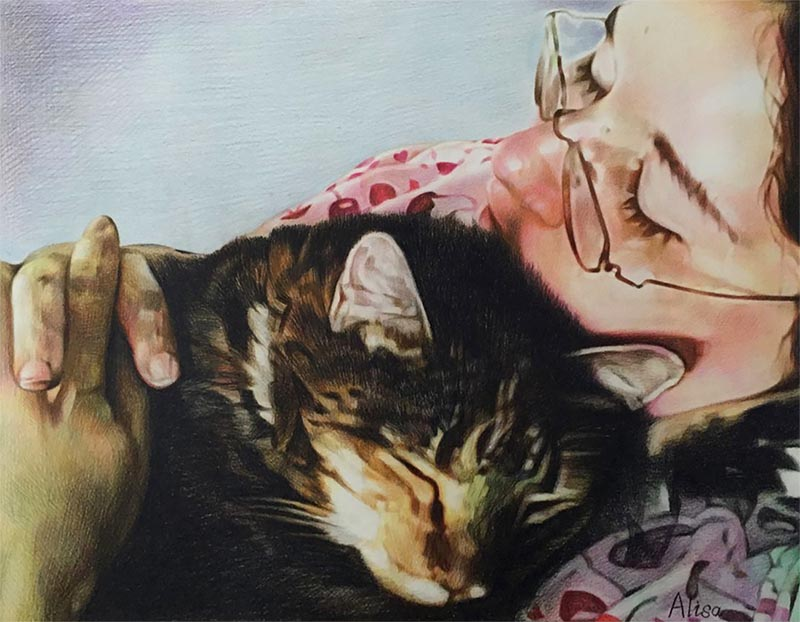 pictures to paint cat portraits on canvas