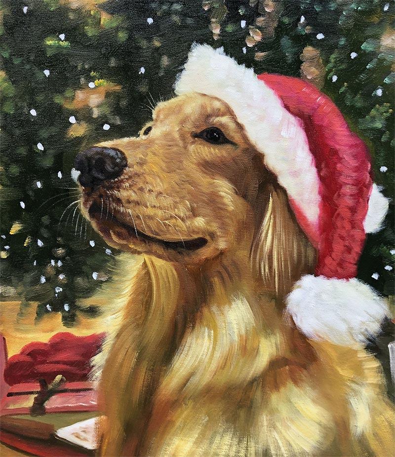 dog art custom dog art dog portraits on canvas christmas